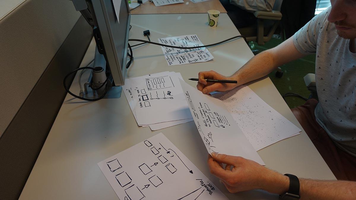 Sketching - Design Sprint Rabobank VBF 2.0