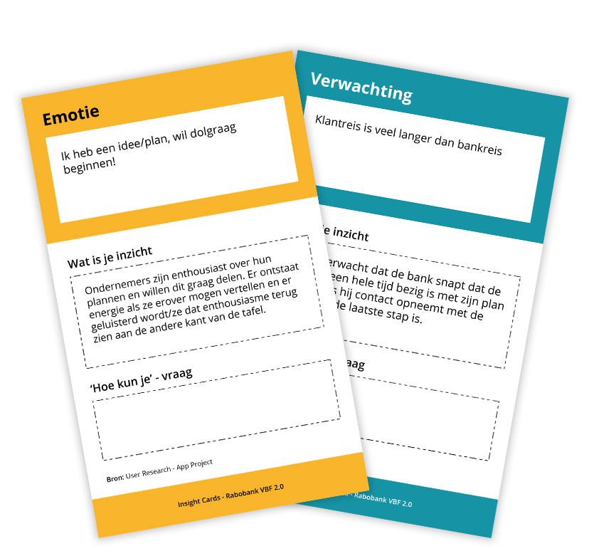 Insight Cards - Rabobank VBF 2.0