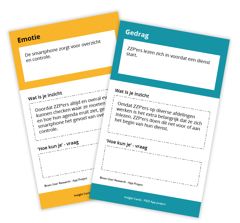 Insight Cards User Research PIDZ app