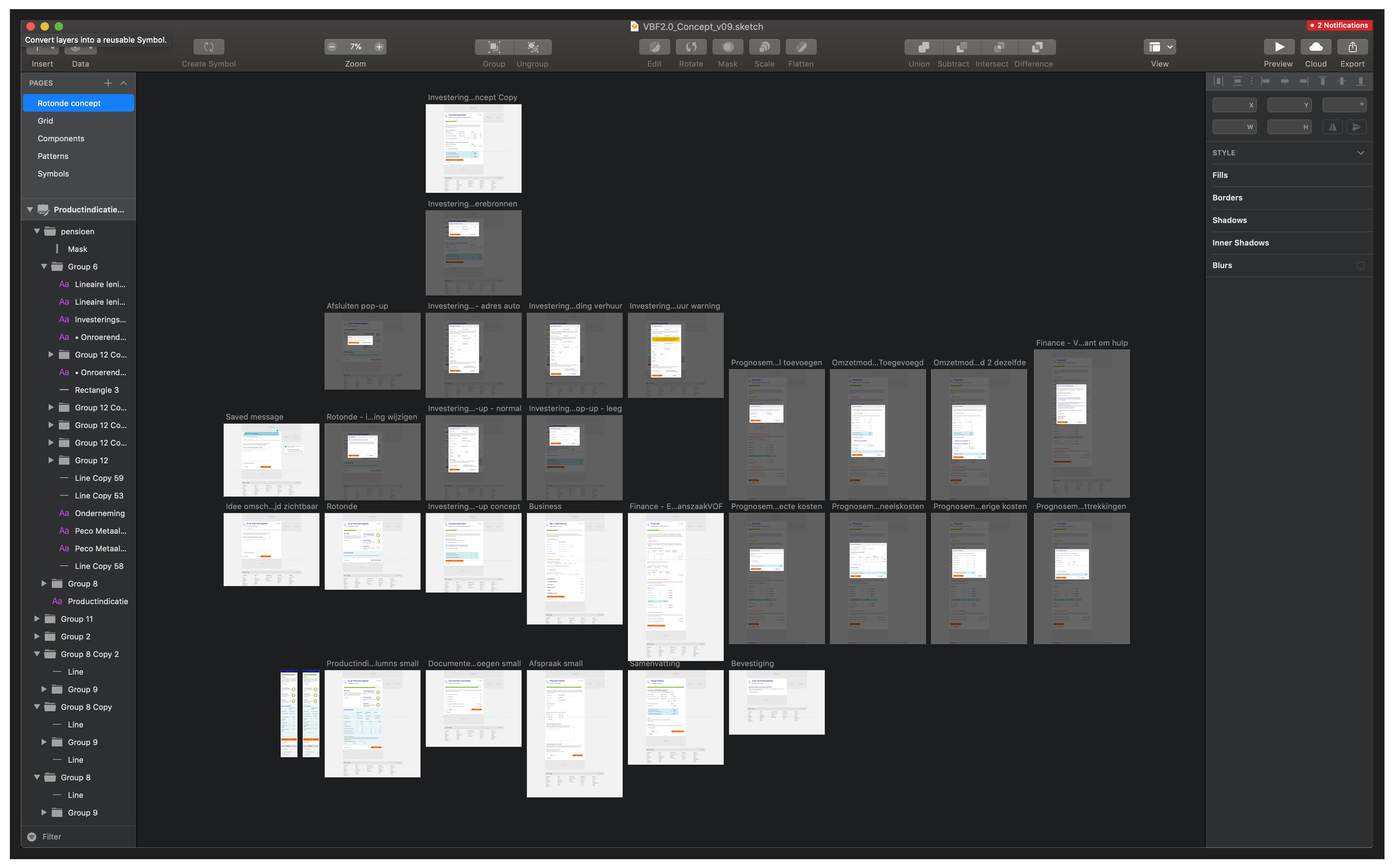 Sketch File Rabobank VBF2.0 Redesign